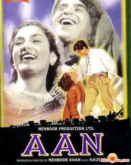 Poster of Aan (1953) - (Hindi Film)