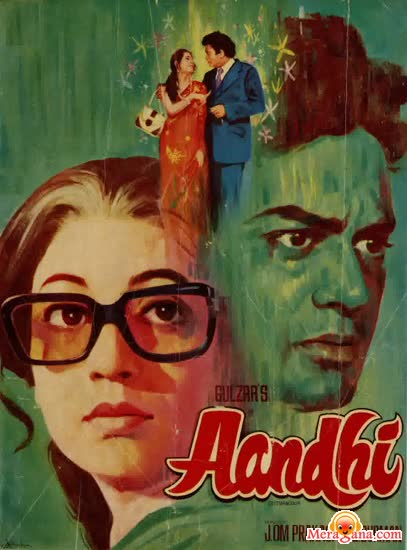 Poster of Aandhi (1975) - (Hindi Film)