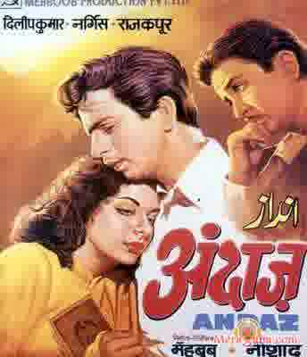 Poster of Andaz (1949) - (Hindi Film)