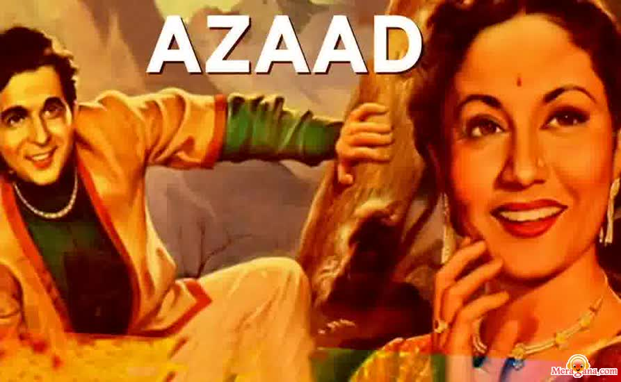 Poster of Azaad (1955) - (Hindi Film)