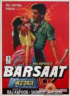 Poster of Barsaat (1949) - (Hindi Film)