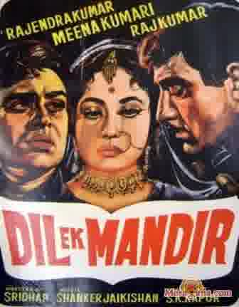 Poster of Dil Ek Mandir (1963) - (Hindi Film)
