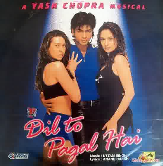 Poster of Dil+To+Pagal+Hai+(1997)+-+(Hindi+Film)