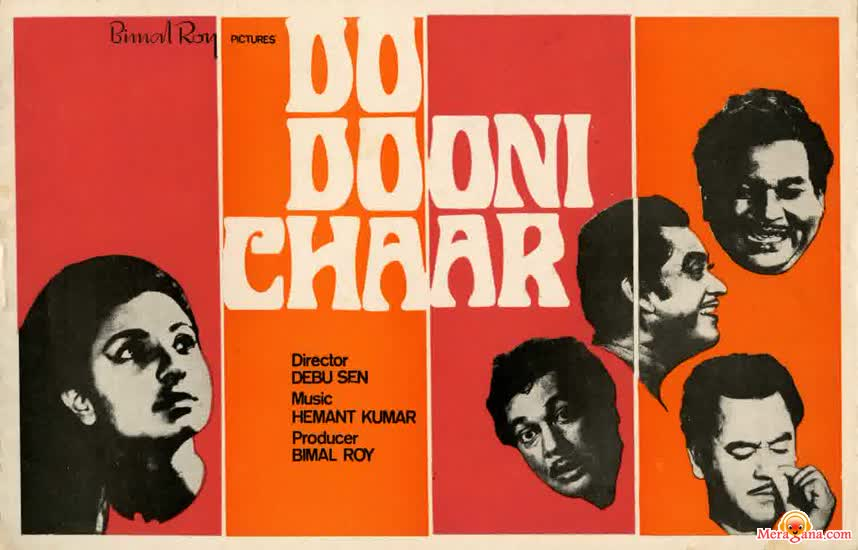 Poster of Do+Dooni+Chaar+(1968)+-+(Hindi+Film)