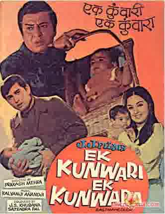 Poster of Ek Kunwari Ek Kunwara (1973) - (Hindi Film)