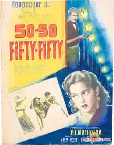 Poster of Fifty Fifty (1956) - (Hindi Film)
