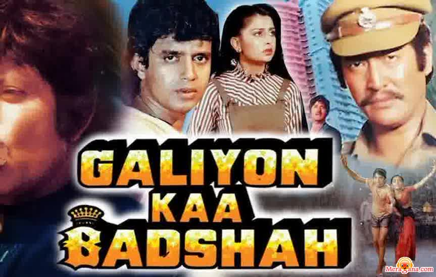 Poster of Galiyon Ka Badshah (1989) - (Hindi Film)