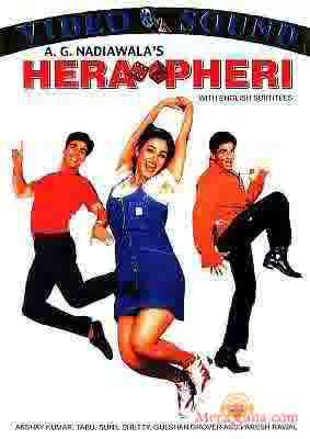 Poster of Hera+Pheri+(2000)+-+(Hindi+Film)