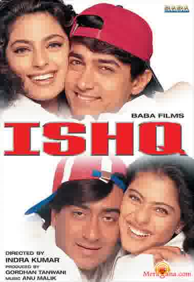Poster of Ishq (1997) - (Hindi Film)