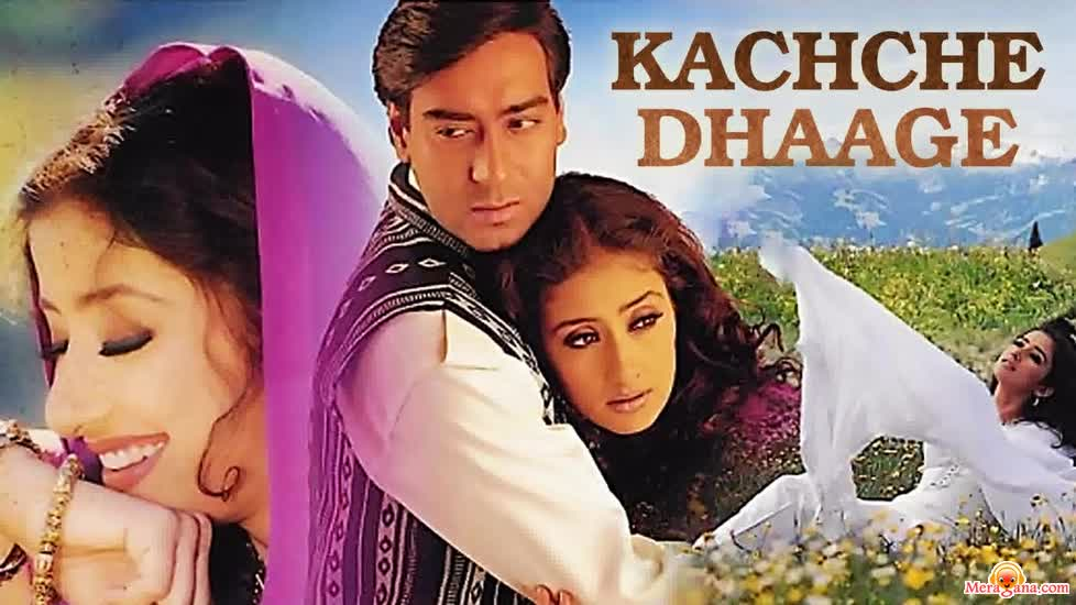 Poster of Kachche+Dhaage+(1999)+-+(Hindi+Film)