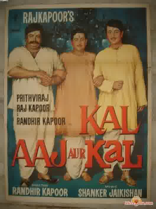 Poster of Kal+Aaj+Aur+Kal+(1971)+-+(Hindi+Film)