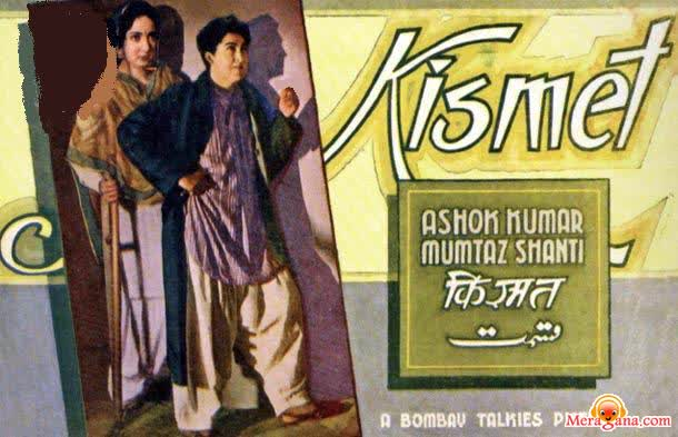 Poster of Kismat (1943) - (Hindi Film)
