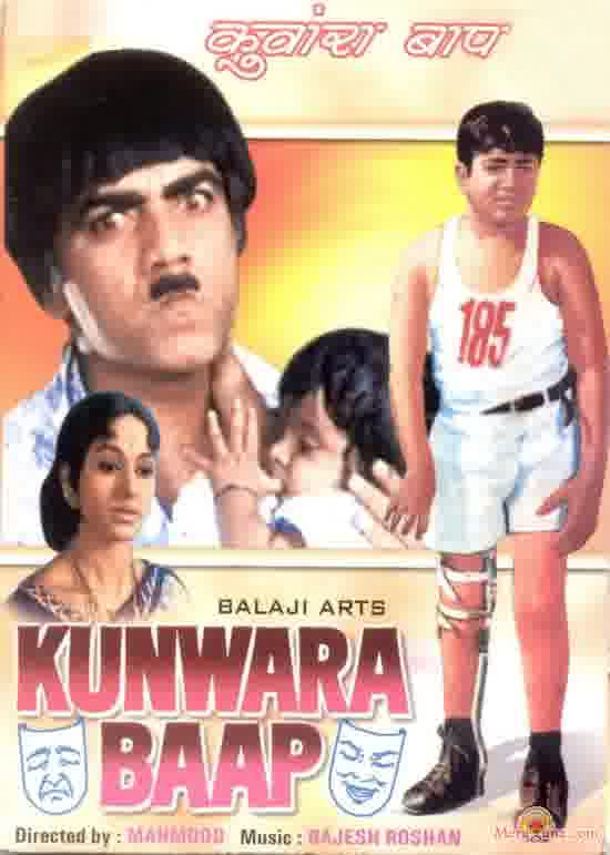 Poster of Kunwara+Baap+(1974)+-+(Hindi+Film)