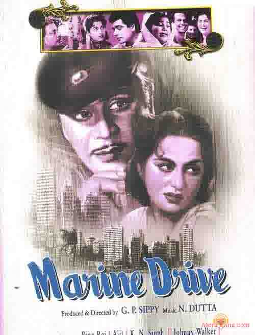 Poster of Marine+Drive+(1955)+-+(Hindi+Film)