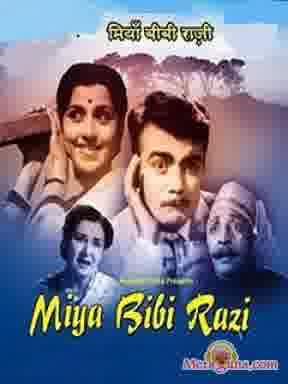 Poster of Miya Bibi Razi (1960) - (Hindi Film)