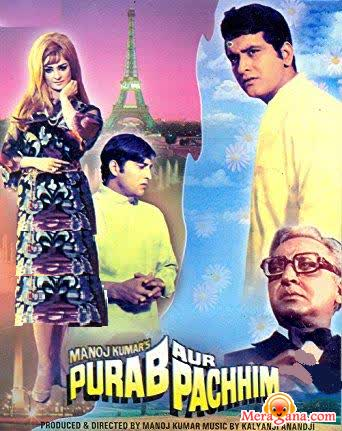 Poster of Purab+Aur+Pachhim+(1970)+-+(Hindi+Film)