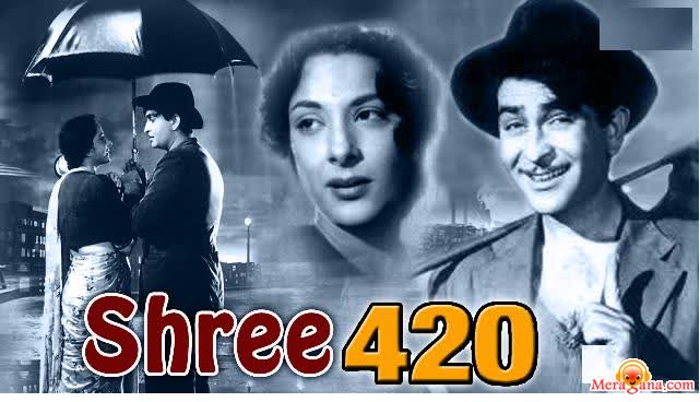 Poster of Shree 420 (1955) - (Hindi Film)