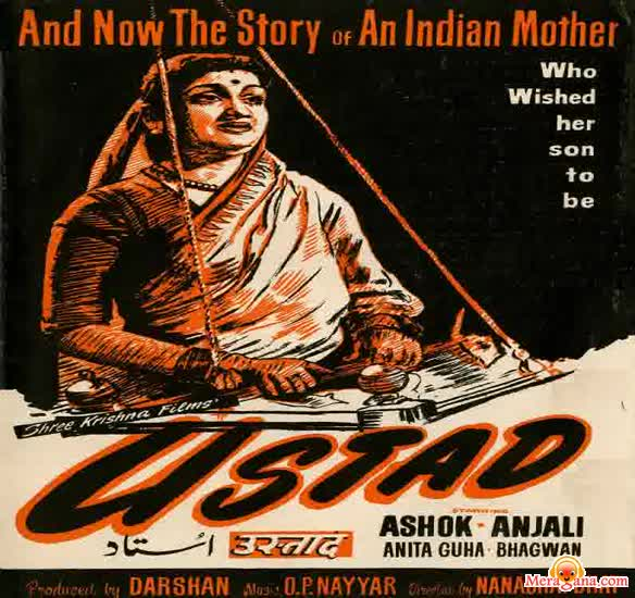 Poster of Ustad (1957) - (Hindi Film)