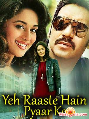 Poster of Yeh+Raaste+Hain+Pyaar+Ke+(2001)+-+(Hindi+Film)
