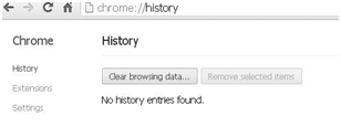 Delete Chrome History